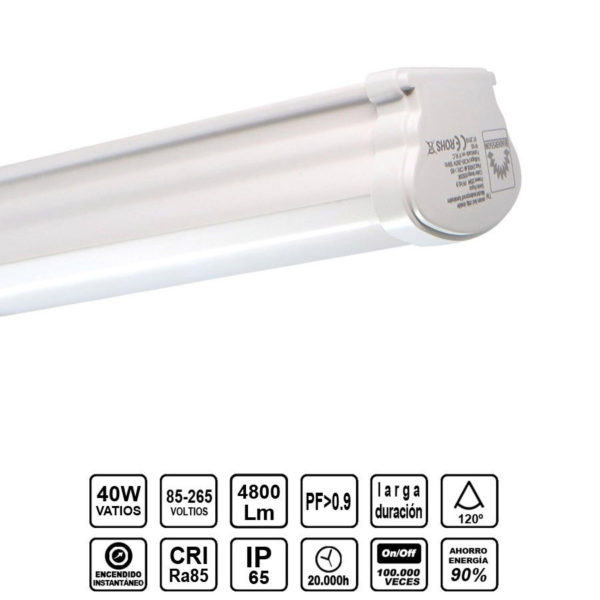 Pantalla Estanca LED integrado 120cm