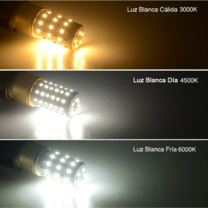 luces LED temperatura color