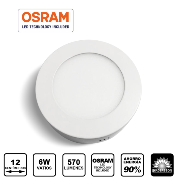 Foco 6W downlight superficie