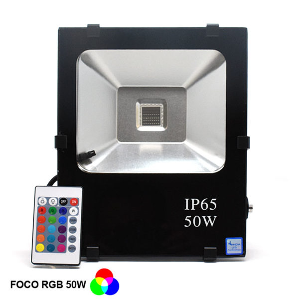 Foco led RGB 50W leadersson