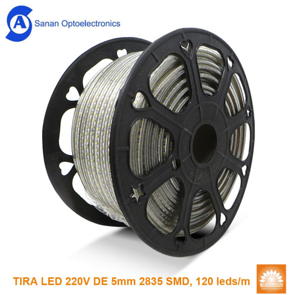 Tira led Shapire 220V 5mm 120d metro 24W