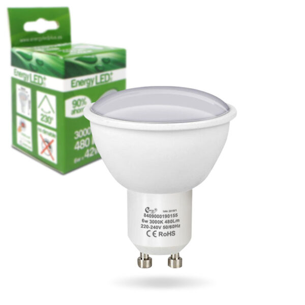 bombilla-GU10-6W-2 ENERGY LED+