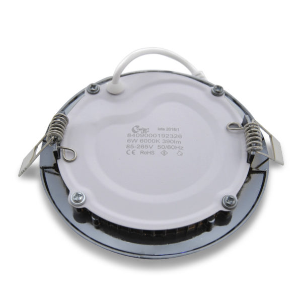 Plafon LED downlight de encastrar cromado 6W