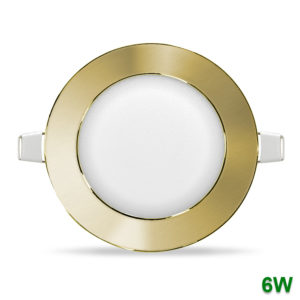 Plafon LED downlight de encastrar metal cuero 6W