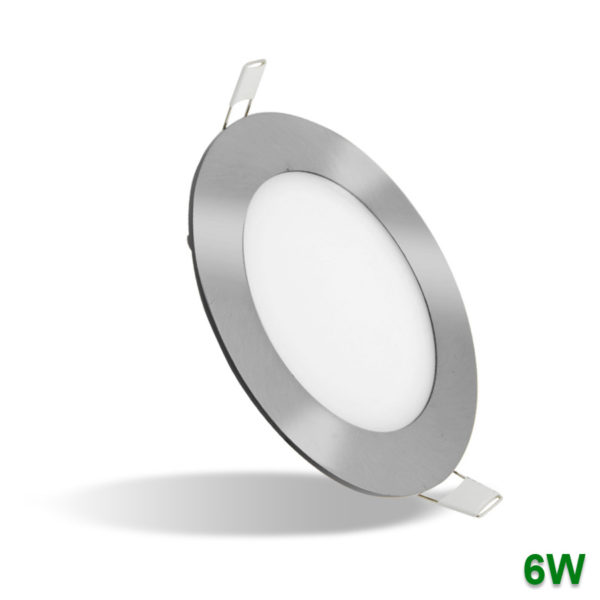 Plafon LED downlight de encastrar Niquelado 6W