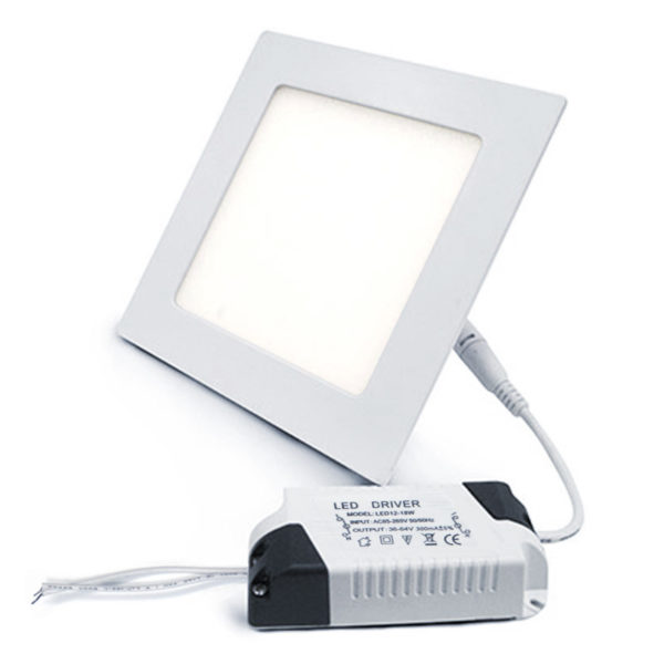 plafon downlight ultraslim cuadrado blanco 18W