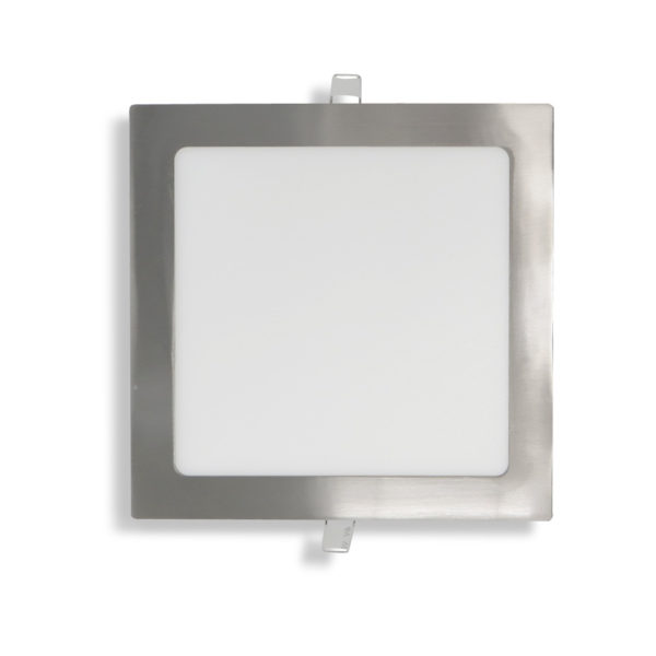 Panel plafon downlight ultraslim cuadrado 18W niquel satinado