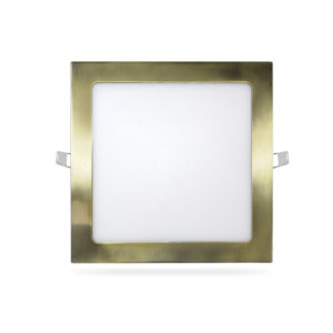 Panel plafon downlight ultraslim cuadrado 18W cuero metalizado