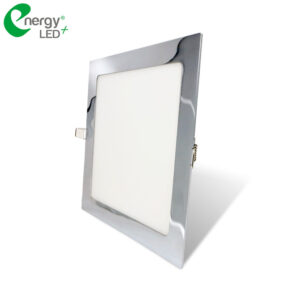 panel led cuadrado 18W cromado energy led
