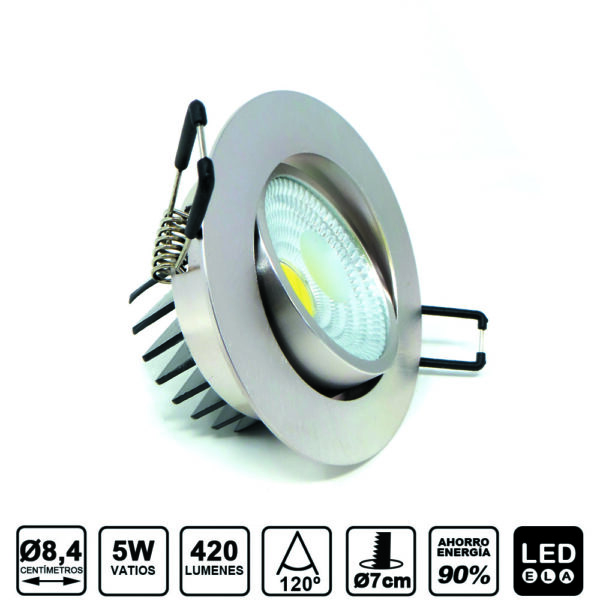 downlight basculante 5W 420lm