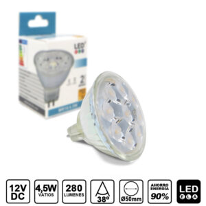 BOMBILLA LED mr16 4,5w